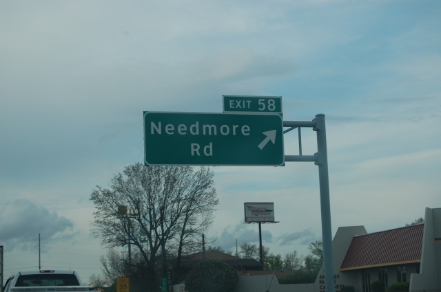 Needmore Road street sign