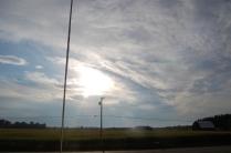 clouds, sun