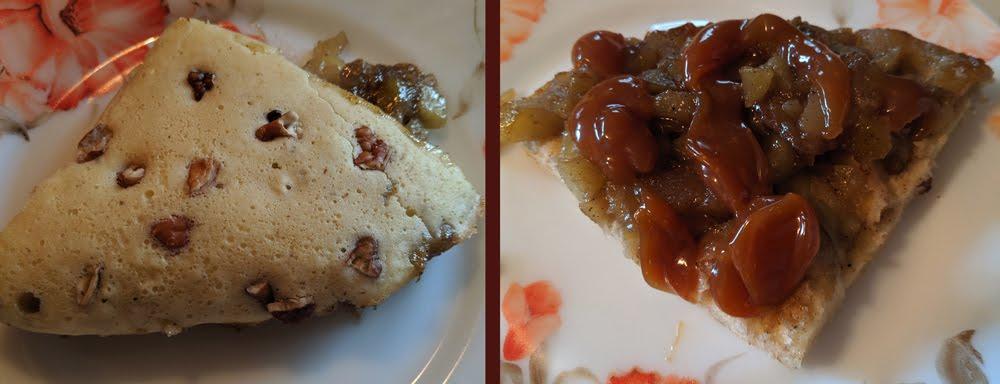 Caramel Apple Skillet Pancake